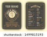 vintage menu with classic and... | Shutterstock .eps vector #1499815193