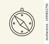 compass line icon. direction ... | Shutterstock .eps vector #1499821796