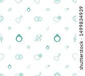 marriage icons pattern seamless ... | Shutterstock .eps vector #1499834939