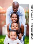 beautiful family portrait at... | Shutterstock . vector #149985188