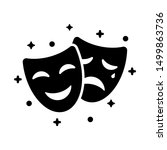 comedy and tragedy masks. black ... | Shutterstock .eps vector #1499863736
