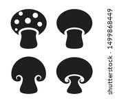 vector mushrooms icons set on... | Shutterstock .eps vector #1499868449