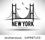 new york bridge design | Shutterstock .eps vector #149987153