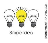 simple idea over white... | Shutterstock .eps vector #149987360