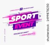 sport event design vector ... | Shutterstock .eps vector #1499878250