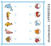 matching game  education game... | Shutterstock .eps vector #1499893016