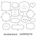 set of stitched black and white ... | Shutterstock .eps vector #149990270