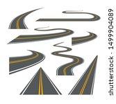 vector road way winding journey ... | Shutterstock .eps vector #1499904089