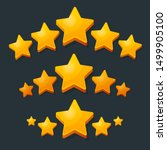 five stars rating gold icon. 3d ...