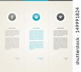 vector template. three choices... | Shutterstock .eps vector #149991824