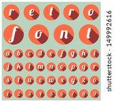 retro type font  vintage...   Shutterstock .eps vector #149992616