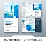 tri fold brochure design with... | Shutterstock .eps vector #1499935793