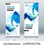 blue business roll up banner.... | Shutterstock .eps vector #1499935796