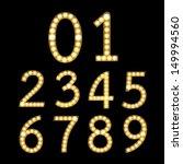 set of golden broadway light... | Shutterstock . vector #149994560