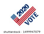 vote 2020 in usa  banner design.... | Shutterstock .eps vector #1499947079