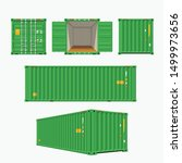 green container set on white | Shutterstock .eps vector #1499973656