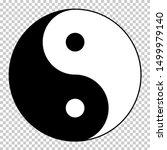 yin yang symbol isolated on...