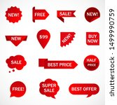 vector stickers  price tag ... | Shutterstock .eps vector #1499990759