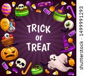 trick or treat background.... | Shutterstock .eps vector #1499991293