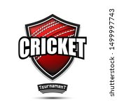 cricket logo design template.... | Shutterstock .eps vector #1499997743