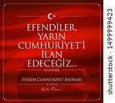 29 ekim cumhuriyet bayrami... | Shutterstock .eps vector #1499999423