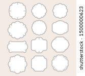 vintage frames double black and ... | Shutterstock .eps vector #1500000623