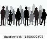 vector silhouette of children... | Shutterstock .eps vector #1500002606