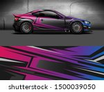 car wrap or decal design.... | Shutterstock .eps vector #1500039050
