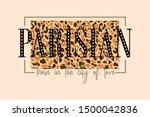 parisian born in the city of... | Shutterstock .eps vector #1500042836