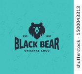 bear logo design template....   Shutterstock .eps vector #1500043313