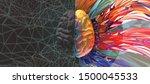 polygonal human brain... | Shutterstock .eps vector #1500045533