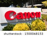 Small photo of Sep 9, 2019 San Jose / CA / USA - Canon sign at the Canon Solutions America (wholly owned subsidiary of Canon USA Inc.) offices in Silicon Valley; Canon Inc is a Japanese multinational corporation