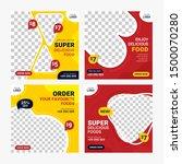 food social media banners post...   Shutterstock .eps vector #1500070280