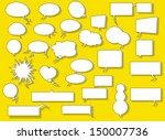 speech balloons | Shutterstock .eps vector #150007736