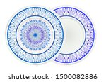 set of two round decoration... | Shutterstock .eps vector #1500082886