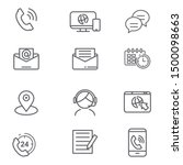 set of contact us related icon... | Shutterstock .eps vector #1500098663