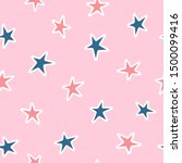 simple seamless pattern with... | Shutterstock .eps vector #1500099416