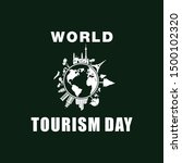 world tourism day design vector | Shutterstock .eps vector #1500102320