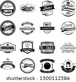 vintage logo badges vector set... | Shutterstock .eps vector #1500112586