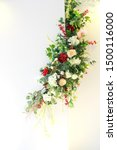 assorted flowers and green... | Shutterstock . vector #1500116000