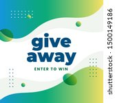 giveaway poster design for... | Shutterstock .eps vector #1500149186