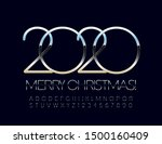 vector stylish merry christmas... | Shutterstock .eps vector #1500160409