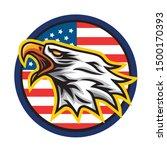 eagle logo mascot vector icon... | Shutterstock .eps vector #1500170393
