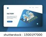 isometric industrial plant...