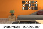 interior of the living room. 3d ... | Shutterstock . vector #1500202580
