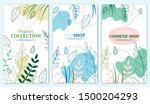 organic collection  eco shop ... | Shutterstock .eps vector #1500204293