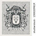 vector heraldic coat of arms in ... | Shutterstock .eps vector #1500209819