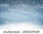 falling snow overlay background.... | Shutterstock .eps vector #1500229109
