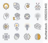 artificial intelligence line... | Shutterstock .eps vector #1500231443