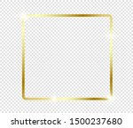 gold shiny glowing frame with... | Shutterstock .eps vector #1500237680